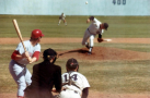 Tom Dodd putting everything into a pitch for UC Irvine, 1973