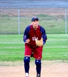 Lisa Dodd playing shortstop for the USA Women's Jr. World National Team in Nanjing, China, 2003