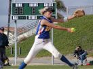 Lisa Dodd pitching Mira Mesa High School in San Diego to its first ever softball CIF championship, 2001