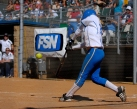 Lisa Dodd hitting the game winning home run against Arizona, 2004