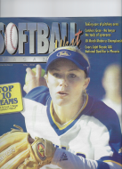 Lisa Dodd on the cover of Softball West magazine, 2006